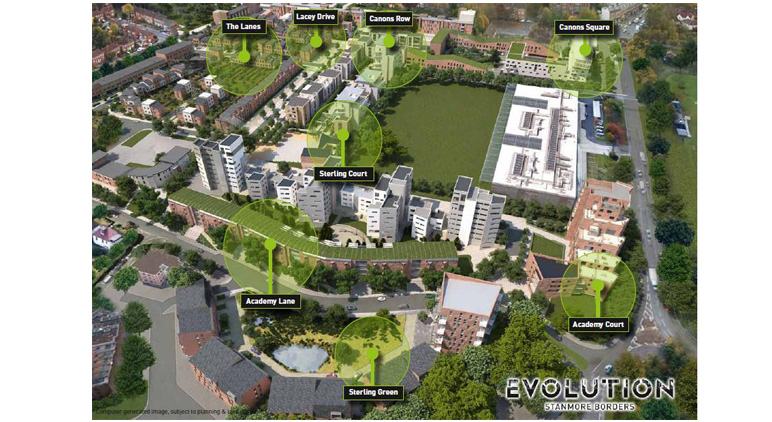 Evolution, Edgware, Barnet: Slide 2