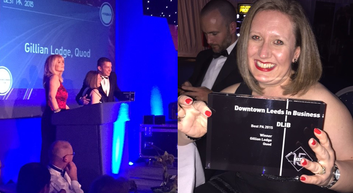 Gillian Lodge named best PA in Leeds