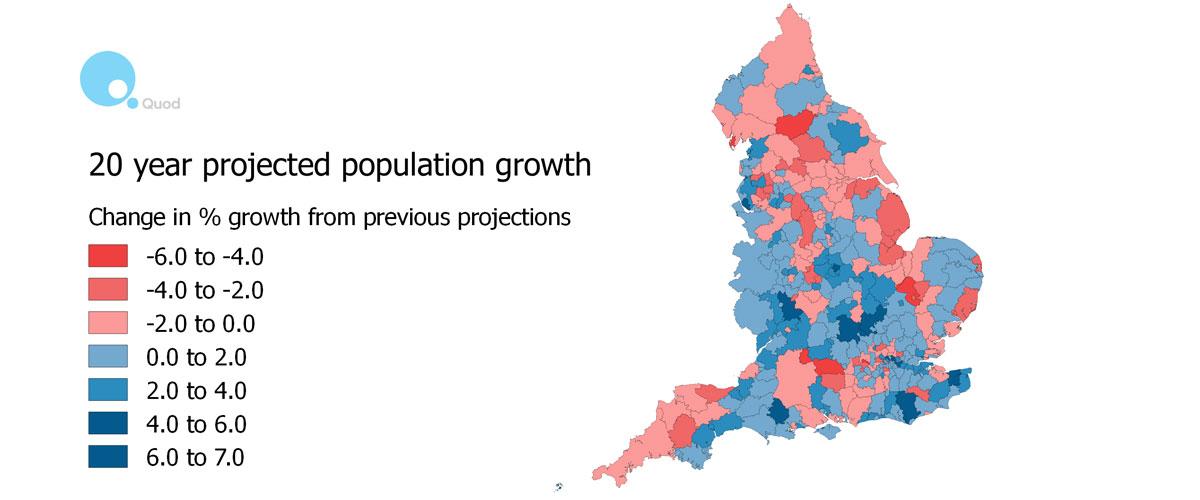 England's Southward tilt